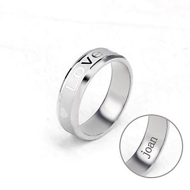 személyre szabott ajándékot unisex gyűrű rozsdamentes acélból készült vésett ékszerek