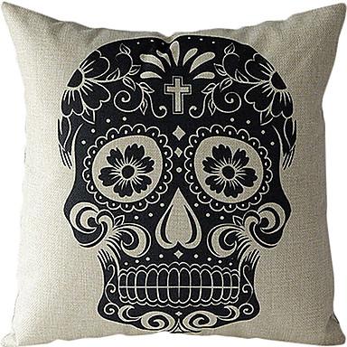 1 pcs Cotton/Linen Pillow Cover, Novelty Retro