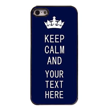 индивидуальный случай синь сохранять спокойствие дизайн металлический корпус для iPhone 5/5 секунд