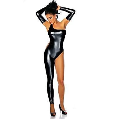 Ninja Zentai öltözékek Szerepjáték Jelmezek Női Mindszentek napja Farsang Fesztivál / ünnepek Mindszentek napi kösztümök Fekete Ezüst