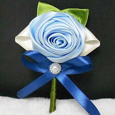 Λουλούδια Γάμου Μπουκέτα Μπουτονιέρες Άλλα Ψεύτικο λουλούδι Γάμου Πάρτι / Βράδυ Υλικό Δαντέλα Σατέν 0-20 ίντσες