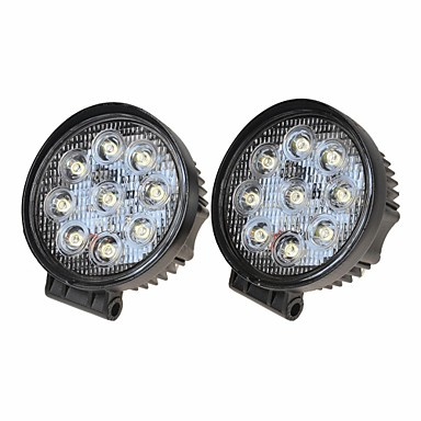 billige Billamper-2pcs Bil Elpærer 27W Epistar 1800lm 9pcs Arbeidslampe