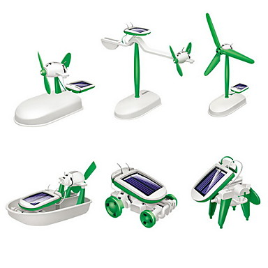 DIY 6 in 1 Children Educational Solar Robot Kits