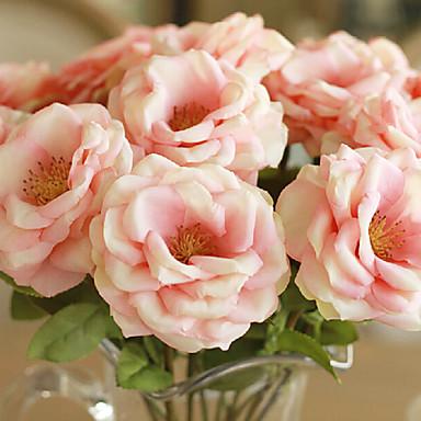 Yapay Çiçekler 2 şube Modern Stil Güller Masaüstü Çiçeği