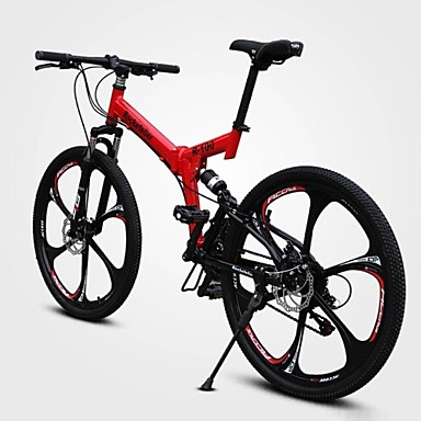 cheap Bikes-Mountain Bike Cycling 21 Speed 26 Inch / 700CC Double Disc Brake Springer Fork Full Suspension Ordinary / Standard Carbon / Aluminium Alloy