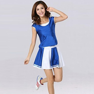 Cheerleader Costumes Outfits Women's Training Performance Cotton Polyester Short Sleeve Natural