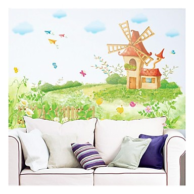 Wall Stickers Wall Decals, Style Dream Windmill PVC Wall Stickers