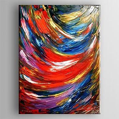 Hang malte oljemaleri Håndmalte - Abstrakt Klassisk Lerret / Stretched Canvas
