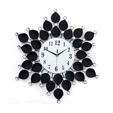 Floral With Drill Style Wall Clock