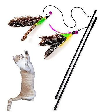 Katzenspielsachen Haustierspielsachen Teaser Federnspielzeug Trompetenärmel Textil Für Haustiere