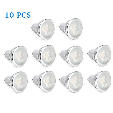 GU10 LED Σποτάκια 3 LED Υψηλης Ισχύος 310 lm Θερμό Λευκό Φυσικό Λευκό AC 220-240 V 10 τμχ