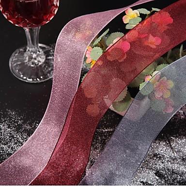 abordables Rubans de Mariage-Couleur Pleine Organza Rubans de mariage Pièce / Set Ruban en organza Décorer la boîte à cadeau Décorer la scène du mariage