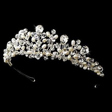 abordables Bijoux de Cheveux-Tiare (Perle/Argent pur/Strass , Perle/Argent pur/Strass