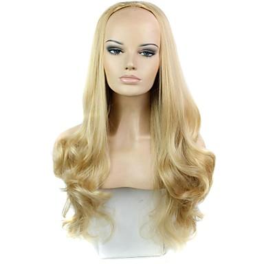 Половина парик Парики для женщин Свободные волны Карнавальные парики Косплей парики