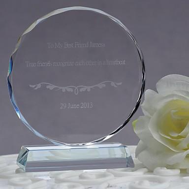Geschenke Brautjungferngeschenk, personalisierte Kristall rund Ornamente