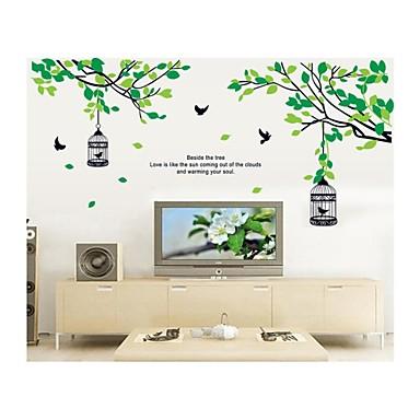 Hayvanlar Romantizm Karton Botanik Duvar Etiketler Hayvan Duvar Çıkartmaları Dekoratif Duvar Çıkartmaları, Vinil Ev dekorasyonu Duvar