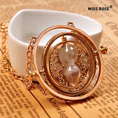 Damen Anhängerketten - Sanduhr Golden Modische Halsketten Schmuck Für Alltag