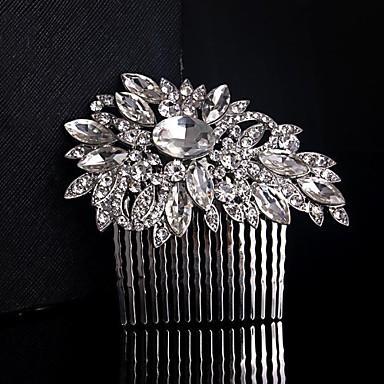 Женский Для девочек Чистое серебро Сплав металлов Заставка-Свадьба Особые случаи Гребни Цветы