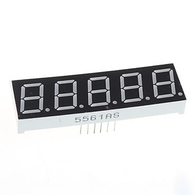 kompatibel (for Arduino) 5-sifret display modul - 0.56in.