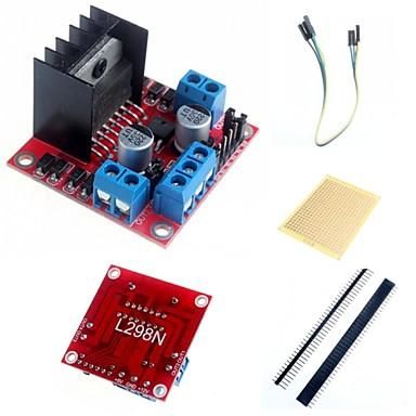 L298N verdoppeln h-Brücke Schrittmotor-Treiber-Modul Controller-Platine und Zubehör für die Arduino