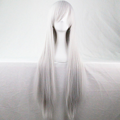 Synthetic Wig White Women's Carnival Wig Halloween Wig Long Party