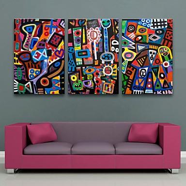 e-home® τεντωμένο καμβά Art αφηρημένα μοτίβα σετ ζωγραφικής διακόσμησης 3