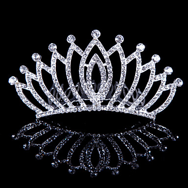 Crystal Fabric Alloy Tiaras 1 Wedding Special Occasion Party / Evening Outdoor Headpiece