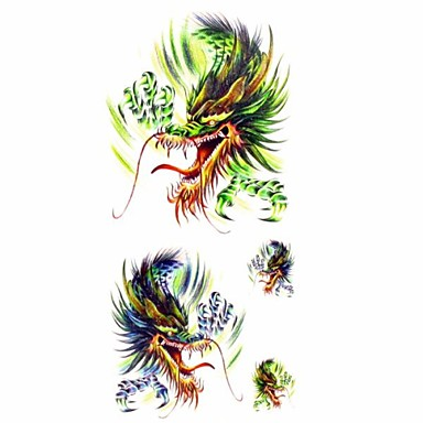 1 Pattern Lower Back Waterproof Animal Series Tattoo Stickers