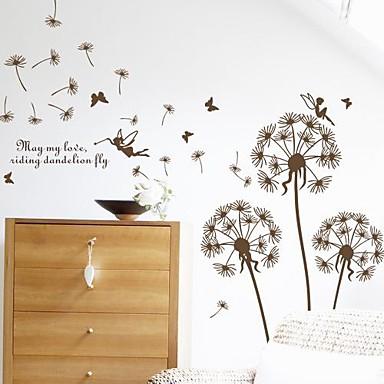 Stilleven Romantiek Mode Bloemen Botanisch Muurstickers Vliegtuig Muurstickers Decoratieve Muurstickers, Vinyl Huisdecoratie Muursticker