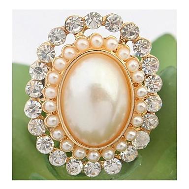 Duże pierścionki Kamień szlachetny Kryształ górski Stop Modny luksusowa biżuteria Kolor ekranu Biżuteria Impreza 1szt
