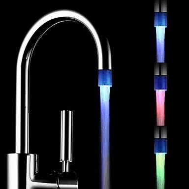 Farbe ändern batterielosen Wasser angetrieben Küche bunten LED Wasserhahn Licht