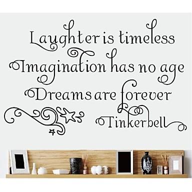 muurstickers muur stickers, tinkerbell engels woorden&citeert pvc muurstickers