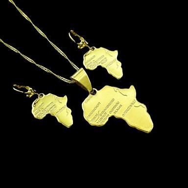 Ékszer készlet Arannyal bevont Nyakláncok Naušnice Mert Esküvő Parti Napi Hétköznapi Sport 1set Esküvői ajándékok