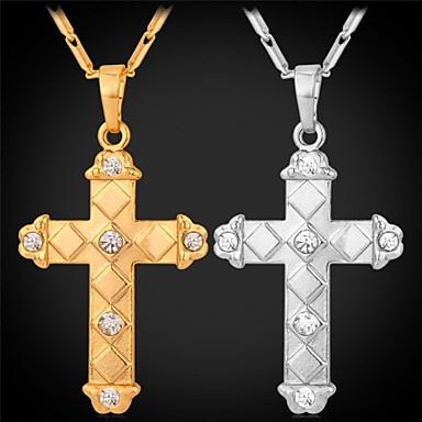 Herrn Damen Strass vergoldet Anhängerketten  -  Modisch Silber Golden Modische Halsketten Für Hochzeit Party Alltag