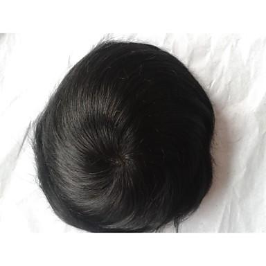povoljno Perike i ekstenzije-Muškarci Ljudska kosa Tupe Ravan kroj Dnevno