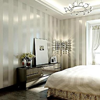 Csík Wallpaper Otthoni Kortárs Falburkolat , Nemszőtt papír Anyag ragasztószükséglet Falfestmény , szoba Falburkoló