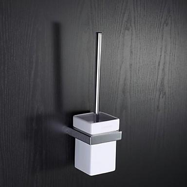 Banyo tuvalet fırçası tutucu moderen krom kaplama çinko duvara monte banyo tuvalet fırçası seti