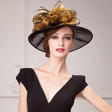 abordables Coiffes-Organza Kentucky Derby Hat / Chapeaux / Coiffure avec Fleur 1pc Mariage / Occasion spéciale / Décontracté Casque