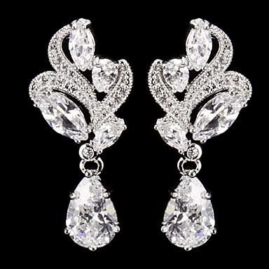 Women's 1 Drop Earrings Cubic Zirconia Alloy Jewelry Silver Costume Jewelry