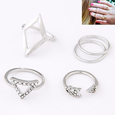 Women's Silver Golden Alloy Personalized Fashion European Daily Costume Jewelry