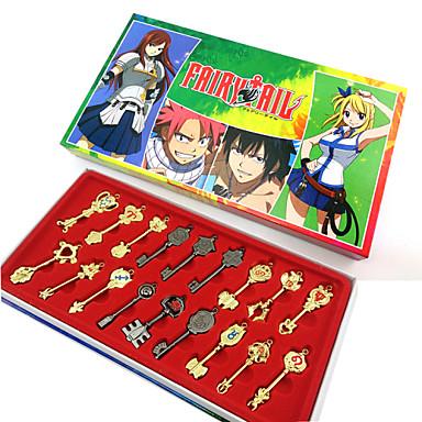 Mehre Accessoires Inspiriert von Fairy Tail Cosplay Anime Cosplay Accessoires Schlüsselanhänger Aleación Damen Halloween Kostüme