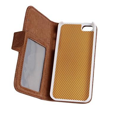 Için iPhone 5 Kılıf Cüzdan / Kart Tutucu / Satandlı / Flip Pouzdro Tam Kaplama Pouzdro Solid Renkli Sert PU Deri iPhone SE/5s/5