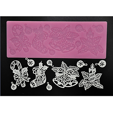 Sugarcraft için dört-c pasta araçları dantel dekorasyon hasır kek dantel, silikon mat fondan kek araçları renk pembe