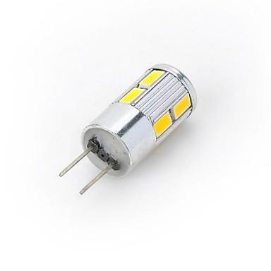 300-400 lm G4 LED Spotlight / LED Bi-pin Lights 10 LED Beads SMD 5730 Warm White / Cold White 12 V / 1 pc / RoHS