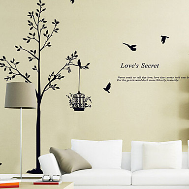 Dekorative Wand Sticker - Worte & Zitate Wandaufkleber Tiere / Stillleben / Mode / Formen / Worte & Zitate / Fantasie / Botanisch