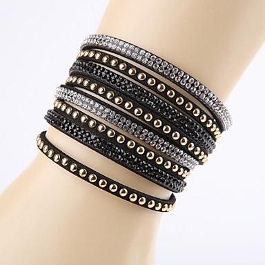 Fashion Rhinestone Buckle Ornamental Bracelet Classical Feminine Style