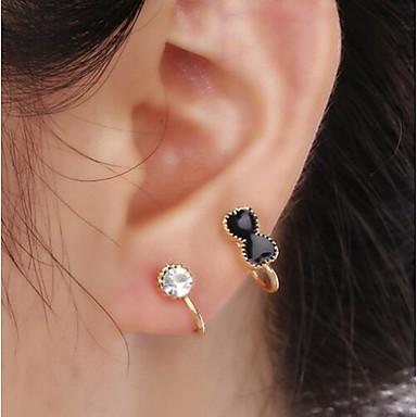 Ear Cuffs sztuczna Diament Stop Bowknot Shape Biżuteria Na Ślub Impreza Codzienny Casual 1szt
