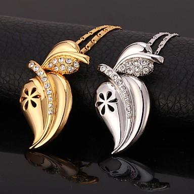 Kadın Uçlu Kolyeler Yapay Elmas Platin Kaplama Altın Kaplama imitasyon Pırlanta alaşım sevimli Stil Gümüş Altın Mücevher IçinDüğün Parti