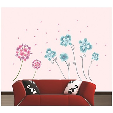 Cartoon Florals Wall Stickers Plane Wall Stickers Decorative Wall Stickers Material Washable Removable Home Decoration Wall Decal