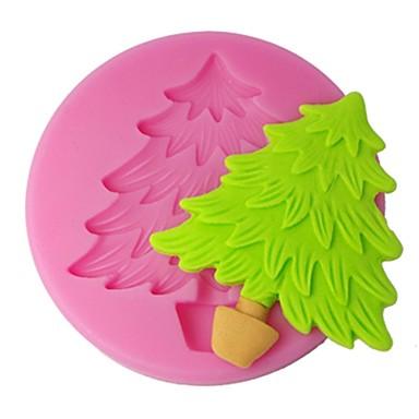 quatre c silicone gâteau moule arbre de Noël fondant moule, de décoration de gâteaux outils fournitures, les outils fondant de décoration